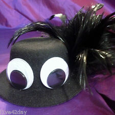 Black Giant Google Eyes Muppets Mini Top Hat Tea Party Sexy Halloween Costume