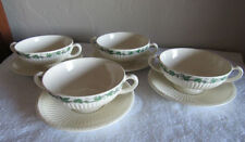 Lot 4 sets Wedgwood Edme Stratford Handled Cream Soup Bowls Saucers 12 Available
