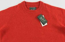 Men's WOOLRICH Orange Wool Crewneck Sweater XL Extra Large NWT NEW Nice!