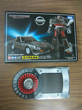 ORIGINAL TRANSFORMERS MASTERPIECE TAKARA TOMY MP 18 STREAK WITH EXCLUSIVE COIN .
