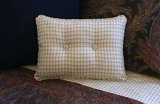 NEW Custom Ralph Lauren Bedford Hunt Tattersall Accent Pillow 2 Button Check