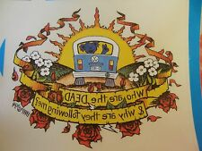 Grateful Dead Vintage Who Are The Dead & Why Are They Following Me? Sticker