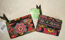 VERA BRADLEY - EURO WALLET - SYMPHONY IN HUE - BRAND NEW WITH TAG  - TRI FOLD