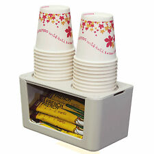 Paper Cup Coffee Mix Tea Bag Dispenser Storage Box Cups Holder Magnetic Mounting