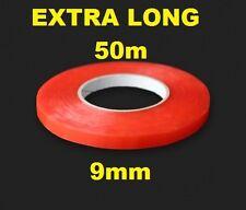 9mm de doble cara Adhesivo Cinta Adhesiva fácil Lift Super Fuerte Extra Largo 50m
