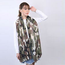 "Women's Fashion Soft Chifon Velvet Camouflage Oblong Sunscreen Scarf 18""*71"""