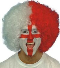 Supporters Wig Afro Clown School Spirit Halloween Costume Accessory 2 COLORS