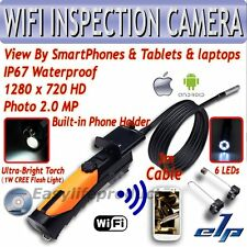 Wireless Endoscope WiFi caméra d'inspection 3M iPad IPhone iOS Android Borescope