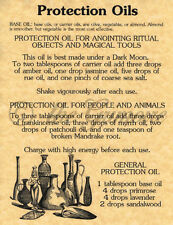 Protection Oils, Book of Shadows Spells Page, Witchcraft, Wicca, like Charmed