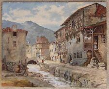 ALSACE 1874...GRANDE & BELLE AQUARELLE ATTRIBUÉE A JACQUES FRANÇOIS CARABAIN