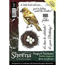 Sheena Douglass Perfect Partners BIRDS OF A FEATHER A6 Rubber Stamp Set