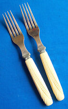 Craft Lot Flatware Forks Celluloid Handles Canada TLC 2 pieces
