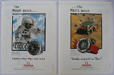 Omega Speedmaster Professional Ad Clipping Magazine 1998 (2x) avertising