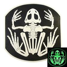 Navy Seal DEVGRU GLOW-IN-DARK Frogman WHITE 3D Skeleton Frog PVC Velcro® Patch