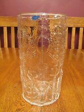 """Beautiful Oiva Toikka Nuutajarvi Finland Flora Clear 8 1/2"""" Glass Vase ~ Label"""
