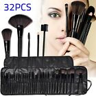 32pcs Professional Soft Cosmetic Eyebrow Shadow Makeup Brush Set Kit +Pouch Case