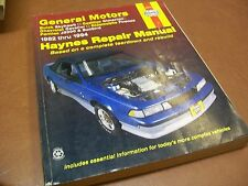 HAYNES AUTO REPAIR MANUAL GENERAL MOTORS 1982-1994 SMALL TO MID SIZE CARS