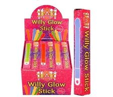 12 NOVELTY WILLY GLOW STICKS HEN STAG PARTY NIGHT ACCESSORIES RAVE NECKLACE GIFT