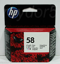 HP 58 Foto Original Deskjet OfficeJet Psc Tinta Cartucho Apr 16 C6658AE-IVA Inc