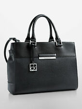 Calvin Klein valerie triple compartment tote bag handbag black