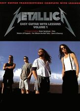 METALLICA - EASY GUITAR LESSONS TAB SONG BOOK VOLUME 1