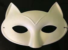 Cat Luxury Eye Mask Masquerade Fancy Dress Up Party Girls/Women Feline White