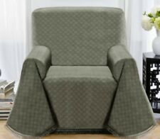 MARKDOWN---BLUE---MATRIX CHAIR THROW COVER--ALSO COMES IN BROWN & GREYISH GREEN