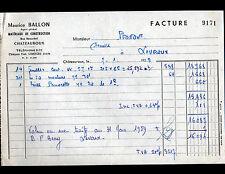 """CHATEAUROUX (36) MATERIAUX de CONSTRUCTION """"Maurice BALLON"""" en 1959"""