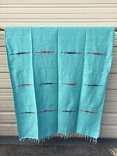 Mexican Blanket Thunder Bird .Throw , Hot Rod, Twin ,Yoga, Decor, MINT GREEN