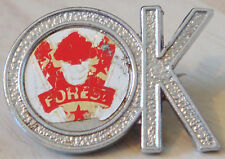 NOTTINGHAM FOREST Vintage 1970s 80s Insert badge Brooch pin Chrome 30mm x 21mm