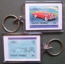 1940 PACKARD DARRIN Car Stamp Keyring (Auto 100 Automobile)