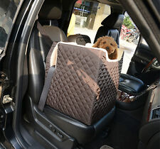 Pet Car Seat Seats Cat Dog Kitty Puppy Carrier Booster Soft Lookout Large Coffee