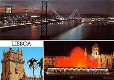 BR6363 Lisboa Ponte 25 de Abril vista nocturna   portugal