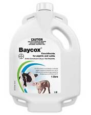 Bayer Baycox Cattle & Piglet Treatment of Coccidiosos 1 Ltr 50mg/mL Toltrazuril