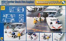 SKUNKMODEL 48007 USN Carrier Deck Fire Engine w/3 Figuren in 1:48