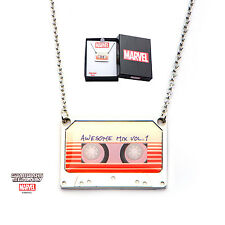 MARVEL COMICS: GUARDIANS OF THE GALAXY CASSETTE TAPE PENDANT ON CHAIN NECKLACE