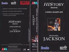 MICHAEL JACKSON VIDEO SAMPLER  HISTORY BEGINS VHS PAL VIDEO~ A RARE FIND