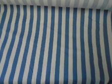P Kaufmann Vat Colors Blue White Stripe Fabric 5 yd Soil Stain Repellent Finish