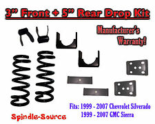 "1999 - 2007 Chevrolet Silverado / GMC Sierra 1500 V8 3"" / 5"" Lowering Drop kit"