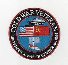 Cold War Veteran - Sept 2, 1946 - Dec 26, 1997 BC Patch Cat No C6726