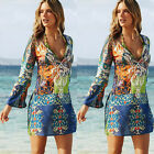Women Swimwear Beachwear Bikini Beach Wear Cover Up Kaftan Sarong Shirt Dress