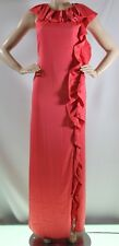 $298 NEW BCBG MAX AZRIA NANCI DRESS CORAL REEF SZ 10=31 SLEEVELESS MAXI  beauty