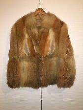 Vintage Genuine Red Fox Real Fur Coat Jacket Stroller UK 8 10 12 14