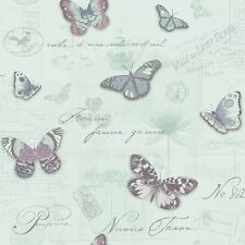 Butterfly Collage Wallpaper Paris Duck Egg Teal Heather Holden Decor