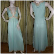 Beautiful Emilio Pucci Formfit Rogers night gown full length pastel turquoise S