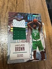 2016/17 Panini Court Kings Jaylen Brown /10 Prime Patch Art Nouveau 2 RC Celtics