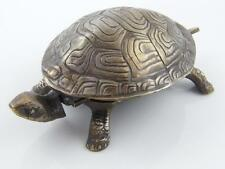 SILVER PLATED TURTLE DESK BELL - WORKING