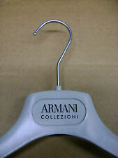 "ARMANI COLLEZIONI GREY VELVET FELT DRESS / SHIRT HANGERS 15 3/4""  SET 16"