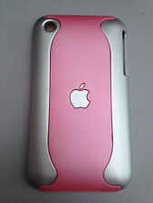 SOFT TOUCH 2-PIECE PLASTIC BACK CASE COVER FOR APPLE iPHONE 3 3GS - LIGHT PINKS