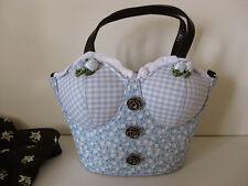 ♥Räumungsverkauf! Dirndltasche Trachtentasche Tasche neu blau Dirndl Handtasche